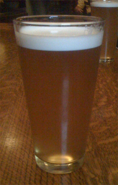 A pint of Durham Hophead at Ceili Cottage