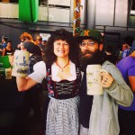 Kicking it with Sybil Taylor at Steam Whistle's Oktoberfest