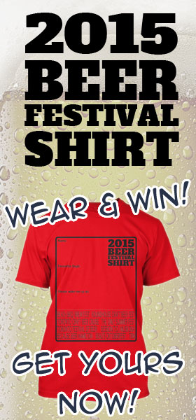 Get your 2015 Beer Fest Shirt now: wear it and win!